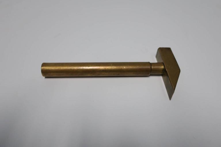 Italian Brass Hammer Tool Corkscrew Bottle Opener  For Sale 5
