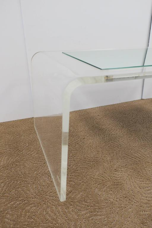 Modern Lucite Waterfall Coffee Table  For Sale 2