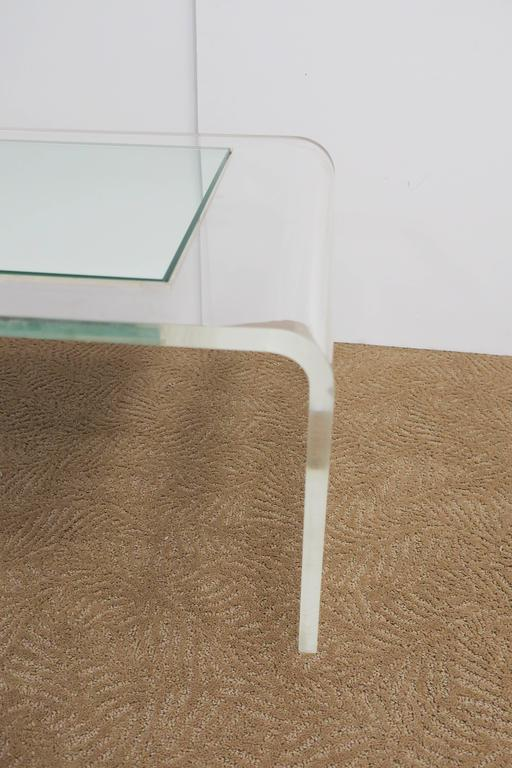 Modern Lucite Waterfall Coffee Table  For Sale 4