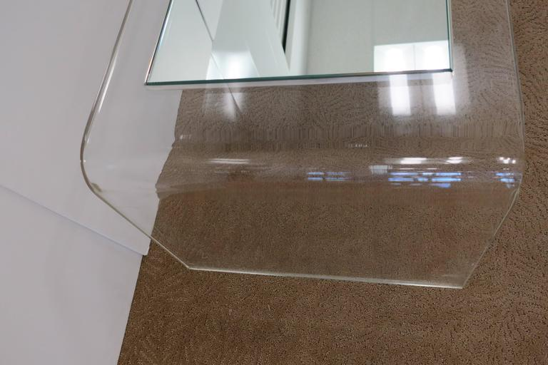 Modern Lucite Waterfall Coffee Table  For Sale 3
