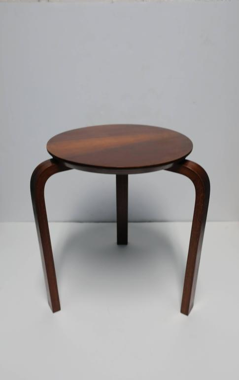 Mid Century European Wood Stool Or Side Table In The Style Of Alvar Aalto 3