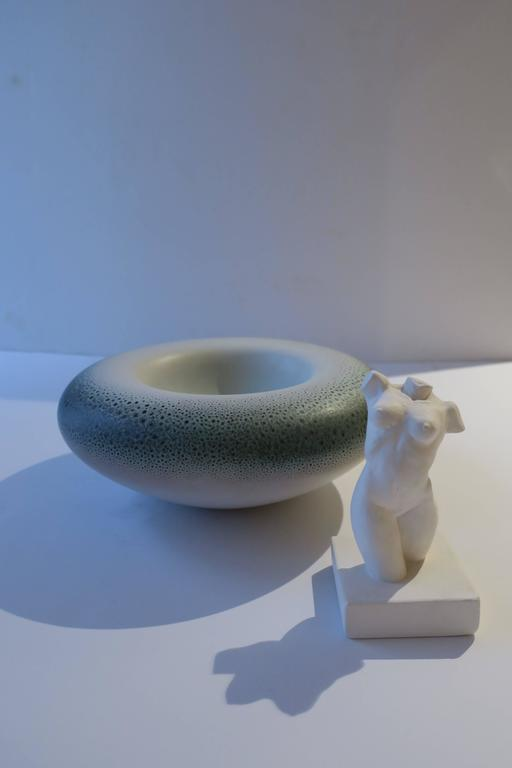 Signed Italian Ceramic Pottery Bowl For Sale 5