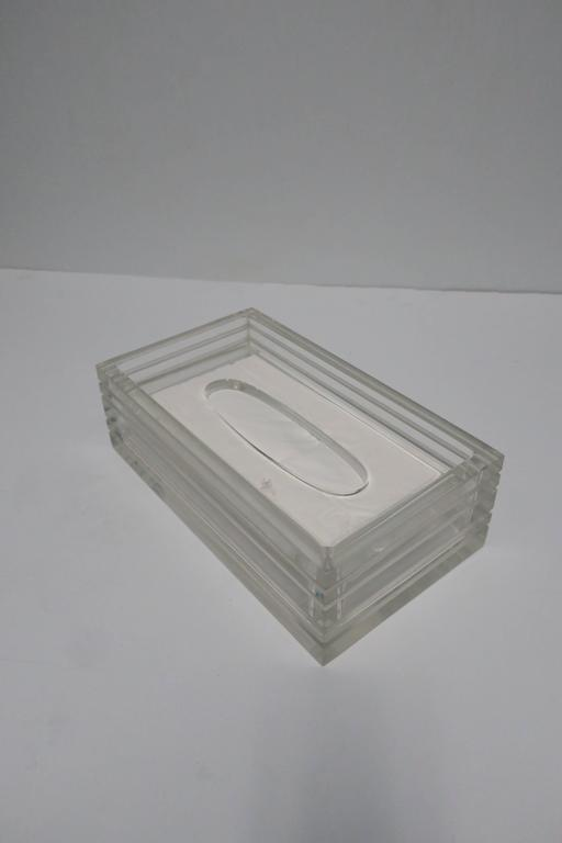 Modern Lucite Tissue Box in the Style of Charles Hollis Jones, ca. 1970s For Sale 2