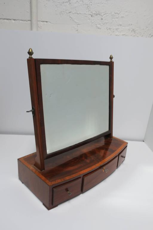20th Century Antique Vanity Mirror with Drawers For Sale