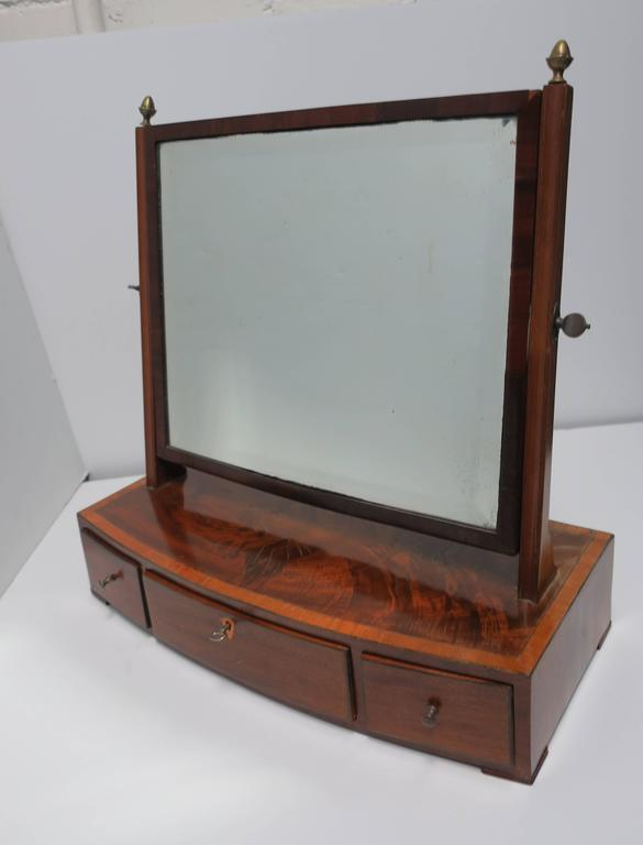 Antique Vanity Mirror with Drawers For Sale 1