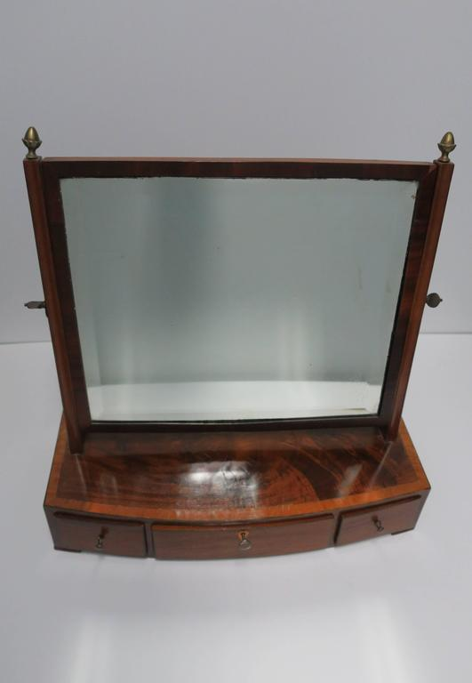Antique Vanity Mirror with Drawers For Sale 4