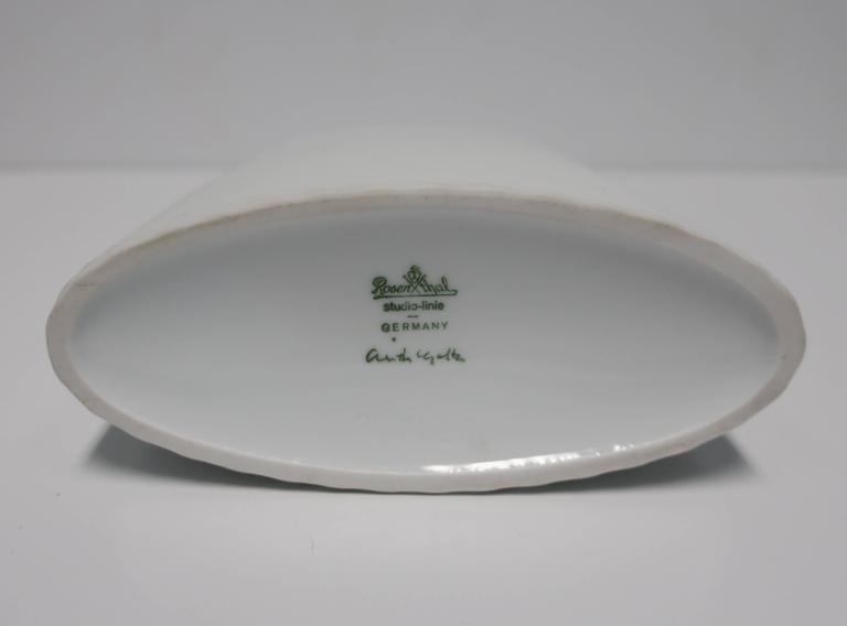 White Matte Porcelain Ceramic Pottery Vase by Rosenthal For Sale 3