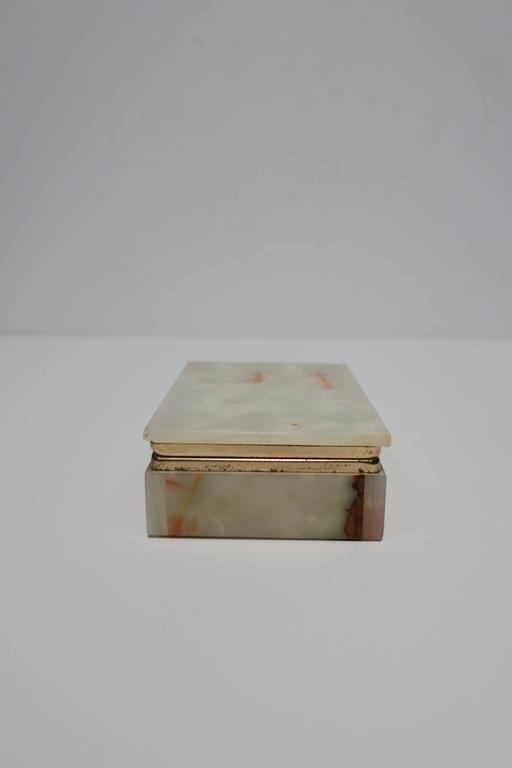 Late 20th Century Modern Italian Onyx Marble Jewelry Box For Sale