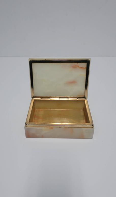 Modern Italian Onyx Marble Jewelry Box For Sale 2