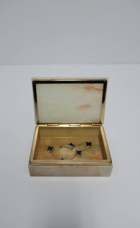 Modern Italian Onyx Marble Jewelry Box For Sale 3