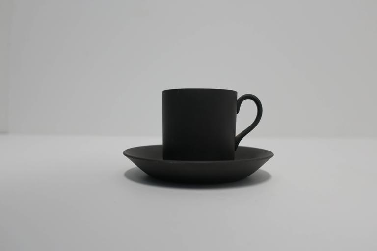Matte Black Espresso Cup And Saucer England At 1stdibs