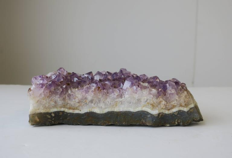 Purple Amethyst Decorative Object or Paperweight In Good Condition For Sale In New York, NY