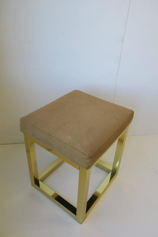 1970s Modern Brass Bench or Stool in the Style of Designer Paul Evans For Sale 6