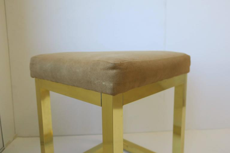1970s Modern Brass Bench or Stool in the Style of Designer Paul Evans For Sale 8
