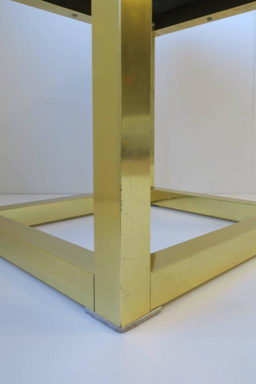 1970s Modern Brass Bench or Stool in the Style of Designer Paul Evans For Sale 10