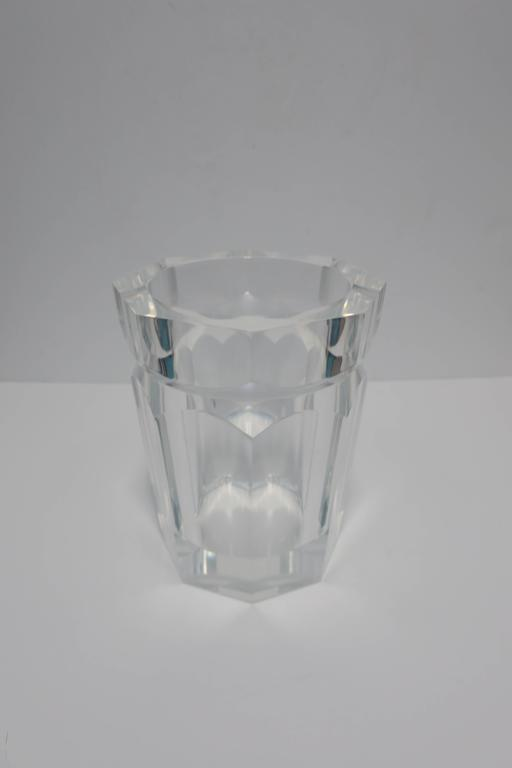 Vintage Modern Lucite Champagne Wine Cooler Ice Bucket, 1990s For Sale 1
