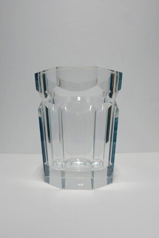 Late 20th Century Vintage Modern Lucite Champagne Wine Cooler Ice Bucket, 1990s For Sale