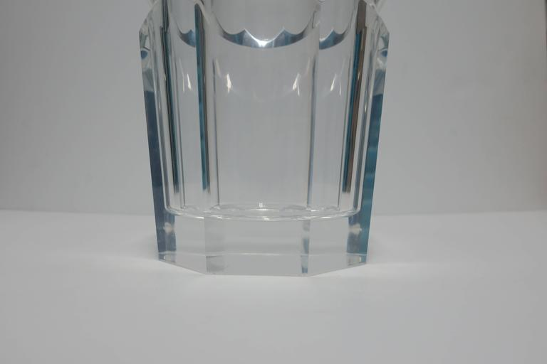 Vintage Modern Lucite Champagne Wine Cooler Ice Bucket, 1990s For Sale 3