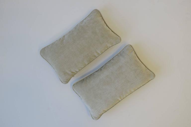 Pair of Small Throw or Accent Pillows in Champagne In Excellent Condition For Sale In New York, NY