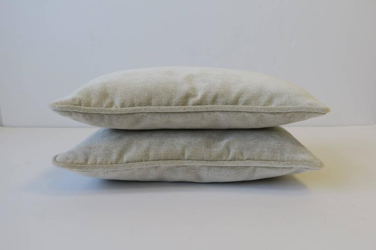 Pair of Small Throw or Accent Pillows in Champagne For Sale 2