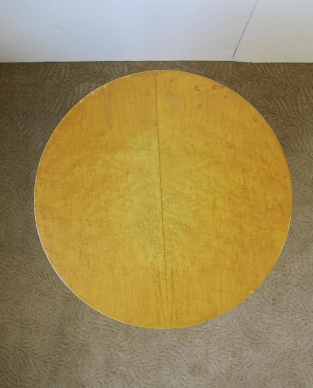 Vintage Modern Round Pedestal Drum Side Table After Milo Baughman 8
