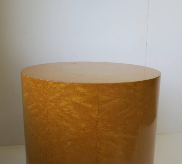 Vintage Modern Round Pedestal Drum Side Table After Milo Baughman 9
