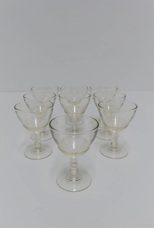 Set of 9 Modern Clear Glassware Set, 1920s For Sale 5