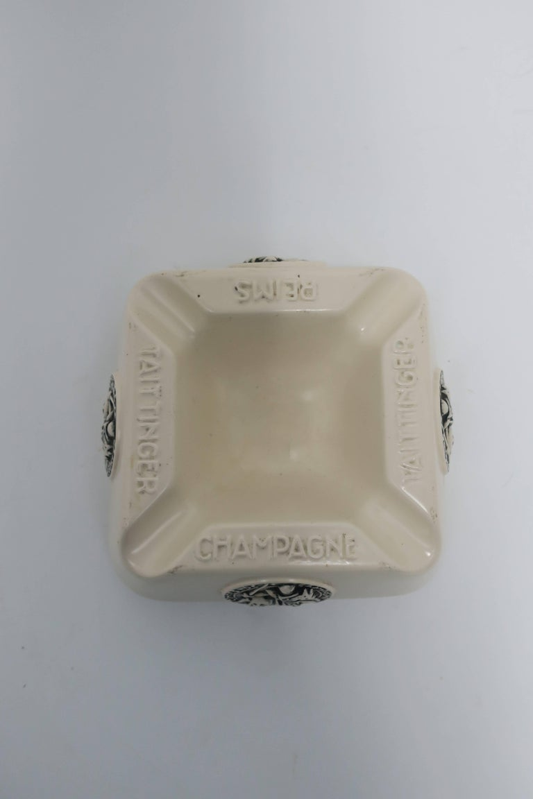 Ceramic French Taittinger Champagne Cigar Ashtray For Sale
