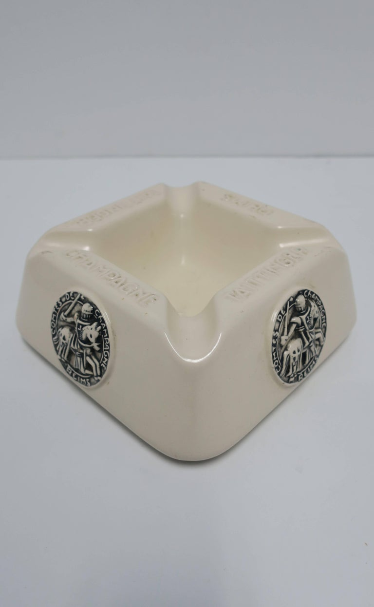 French Taittinger Champagne Cigar Ashtray For Sale 2