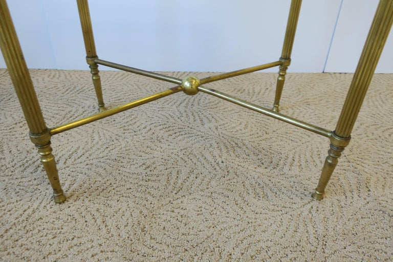Midcentury Italian Brass and Glass End or Side Table For Sale 6