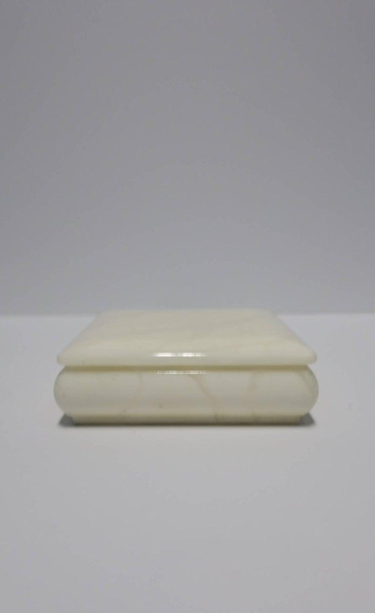 Italian White Alabaster Marble Box At 1stdibs