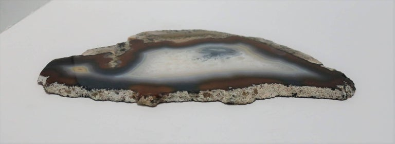 20th Century Blue and White Agate Onyx Decorative Object For Sale