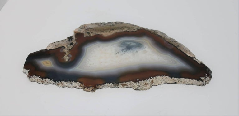 Blue and White Agate Onyx Decorative Object For Sale 1