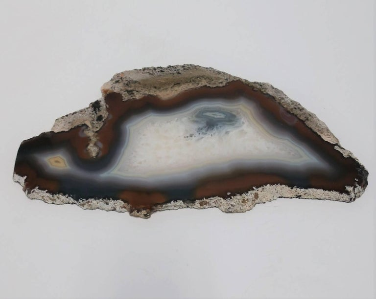Blue and White Agate Onyx Decorative Object For Sale 2