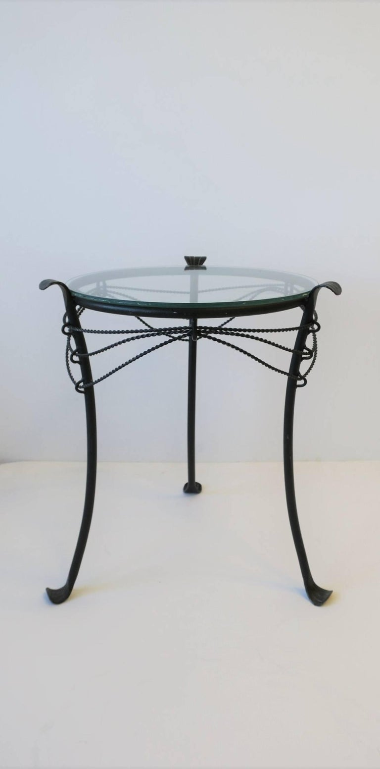 Gueridon Metal Round Side Table