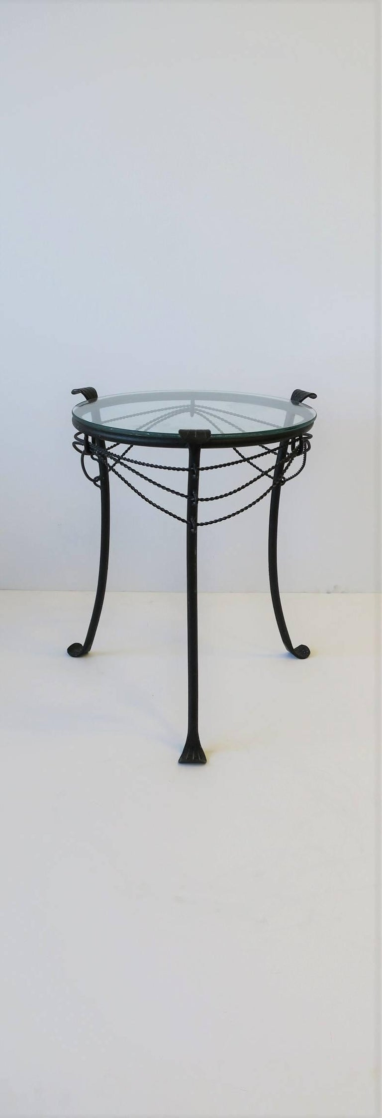 Small Gueridon Metal Round Side Table For Sale 1