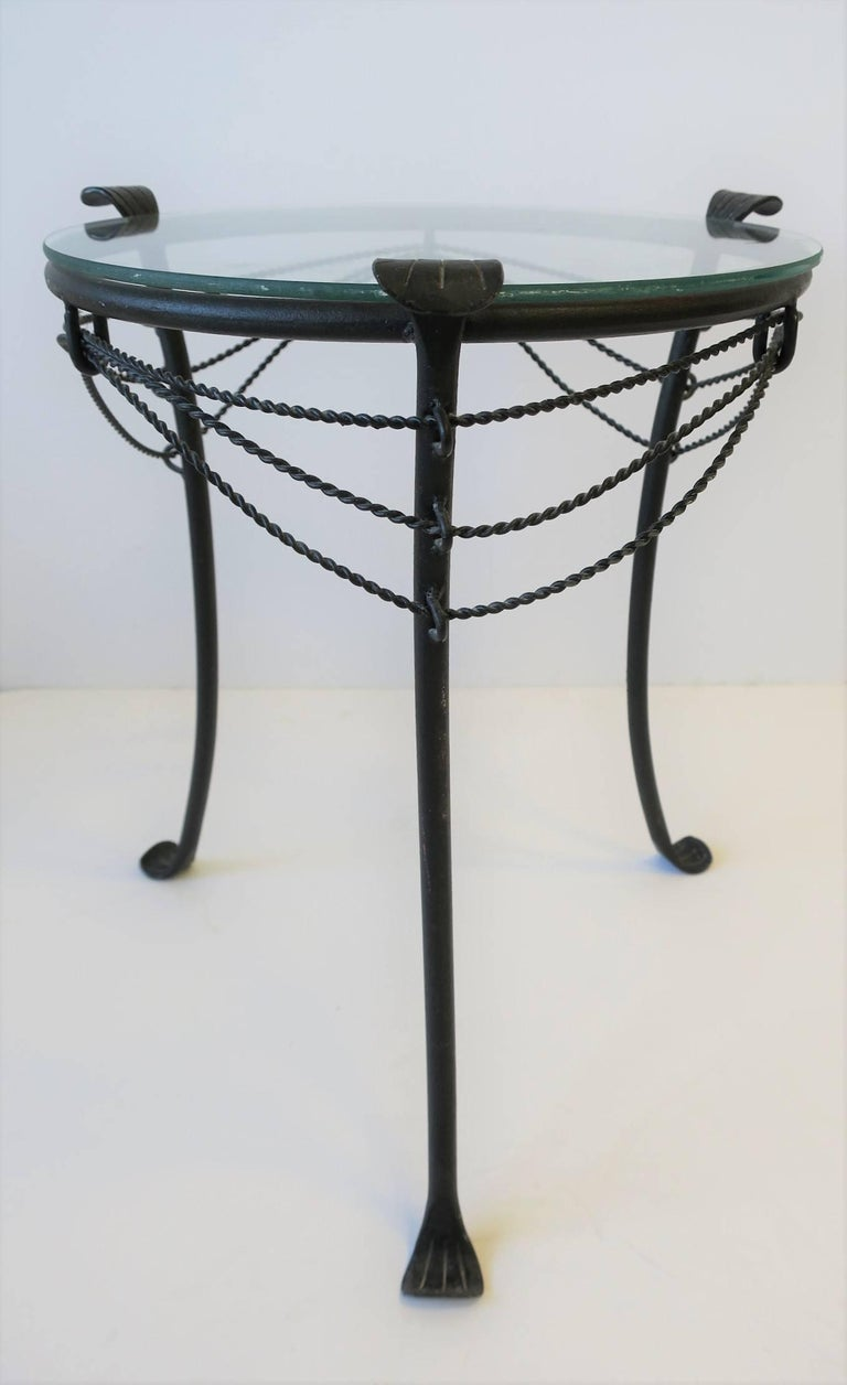 Small Gueridon Metal Round Side Table For Sale 3