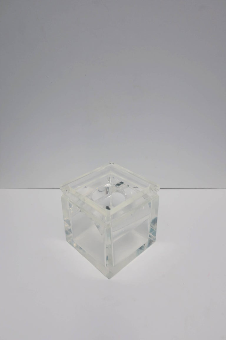 Lucite Tissue Box in the Style of Charles Hollis Jones For Sale 1