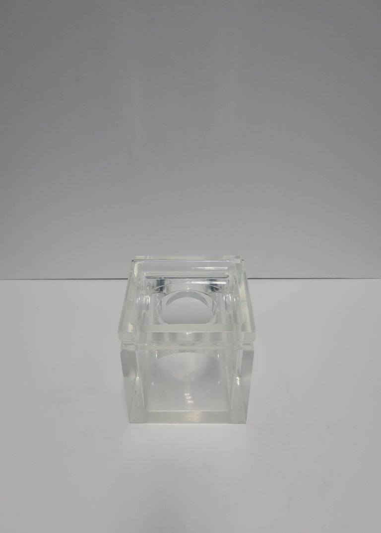 Lucite Tissue Box in the Style of Charles Hollis Jones For Sale 2