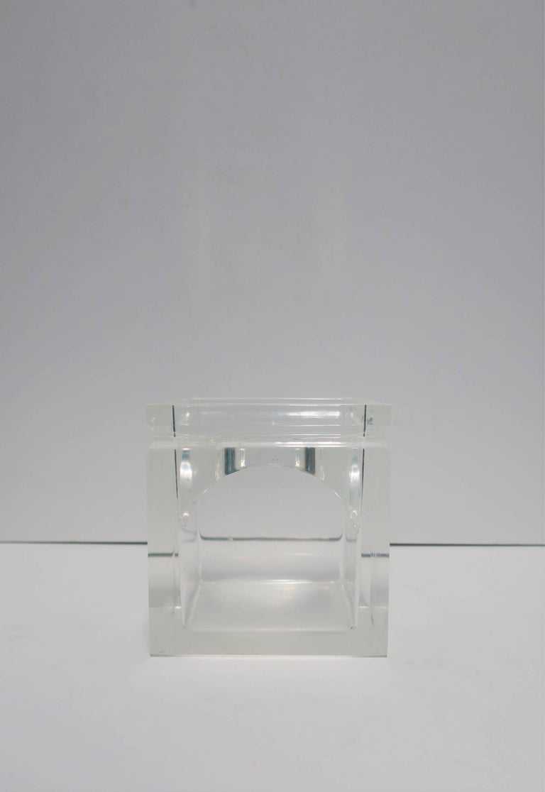 Lucite Tissue Box in the Style of Charles Hollis Jones For Sale 3