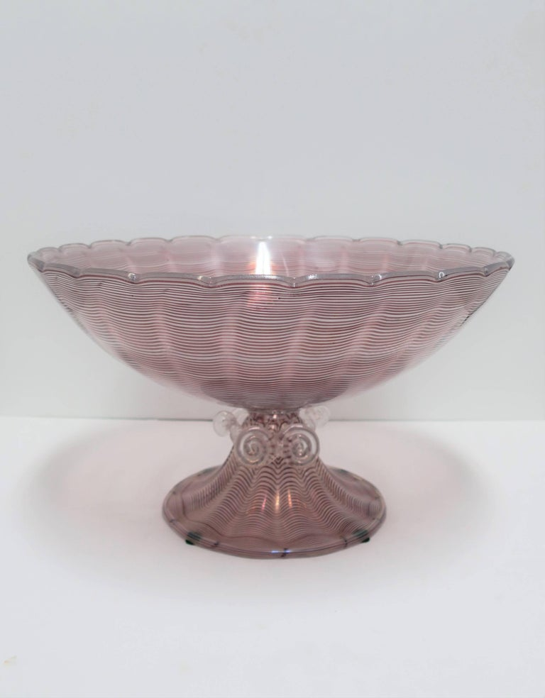Large Italian Murano Art Glass Urn Centerpiece Bowl For Sale 4