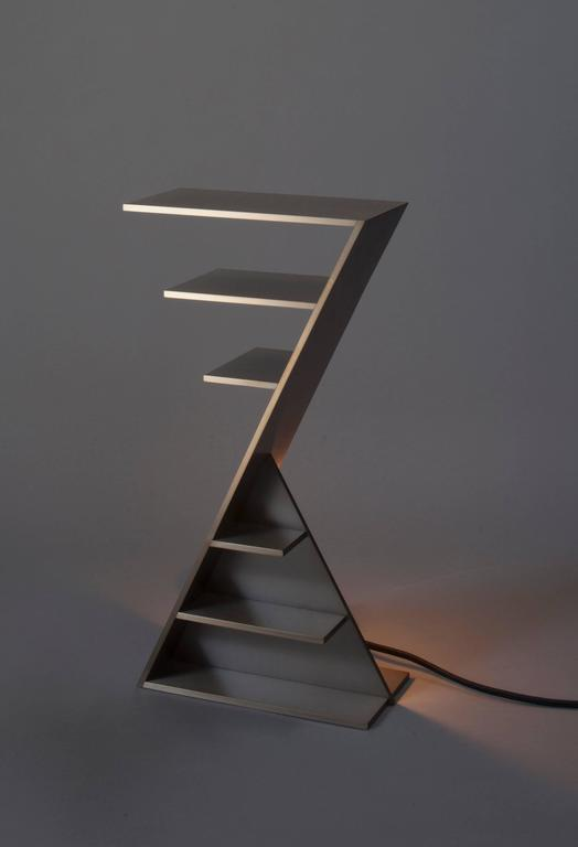 Steel Contemporary 'Duat' Table Lamp by Material Lust, 2015