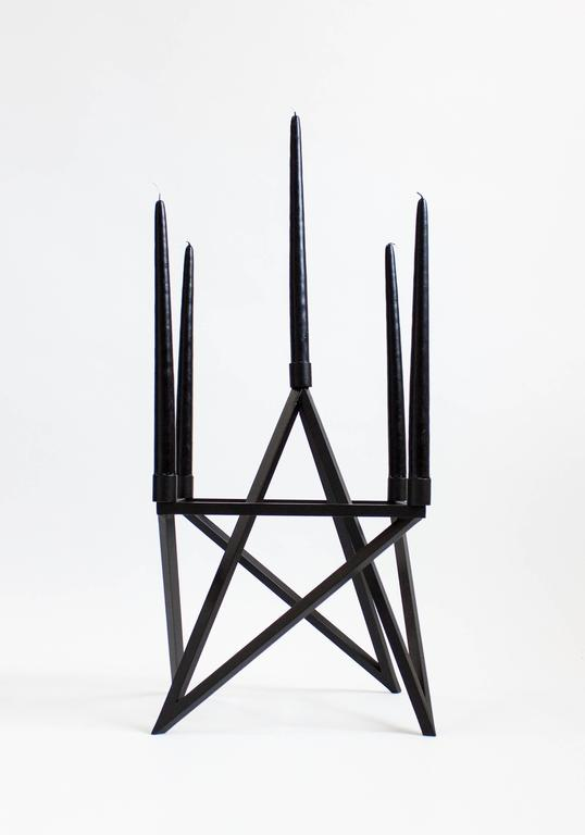 Contemporary Black 'Pagan' Star Candelabra by Material Lust, 2016 2