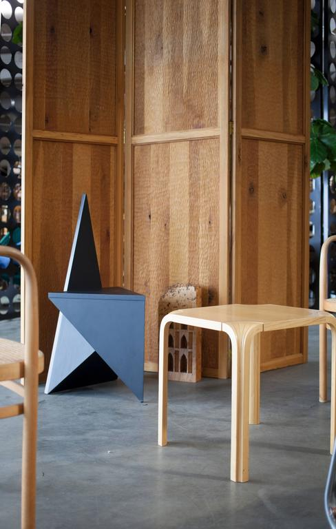 Unveiled at Voltany 2015 the Vanishing twin chair is a rebirth of the Pagan chair released in 2014. The vanishing twin chair was a part of an installation that featured a daily cycle of ritual seating arrangements interacting with the gallery booths