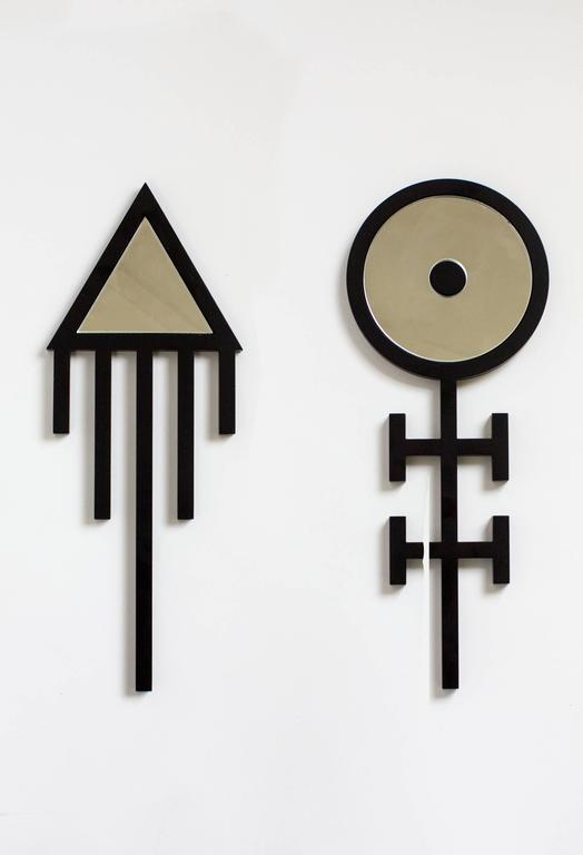 Contemporary Black Metal 'Ankh Air' Hand Mirror by Material Lust, 2014 1