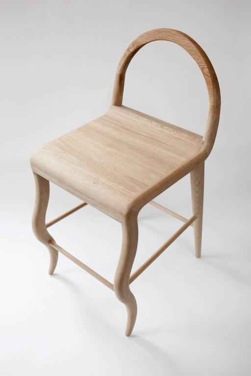 American Contemporary Oak Stool by Material Lust, 2016