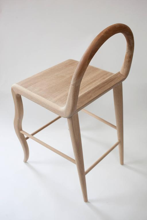 Contemporary Oak Stool by Material Lust, 2016 In New Condition In New City, NY