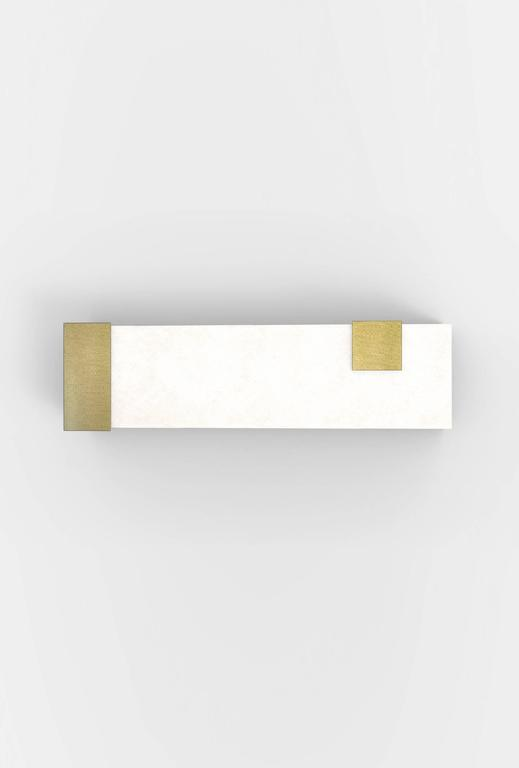 Contemporary Horizontal Brass and Alabaster 003 Sconce by Orphan Work, 2017 5