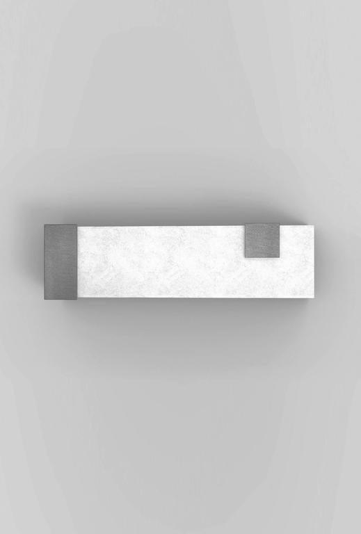 Contemporary Horizontal Brass and Alabaster 003 Sconce by Orphan Work, 2017 7