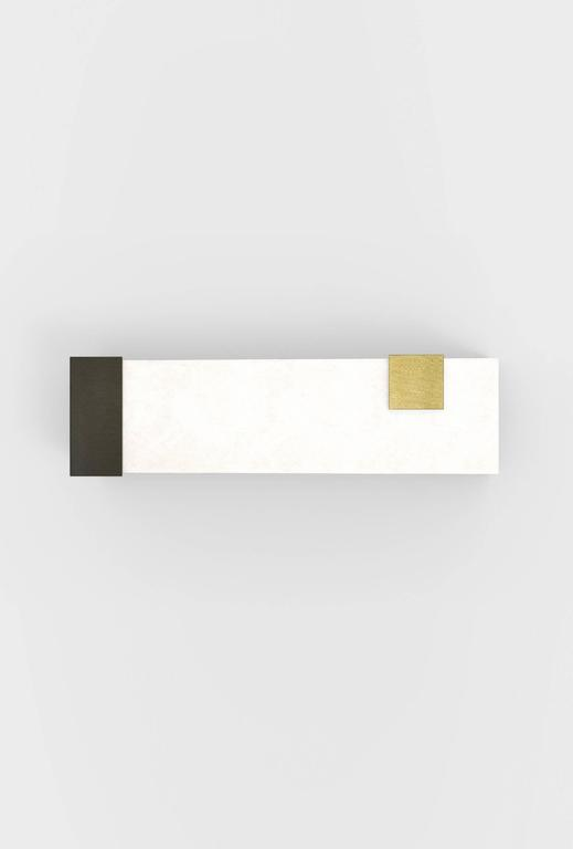 Contemporary Horizontal Brass and Alabaster 003 Sconce by Orphan Work, 2017 4